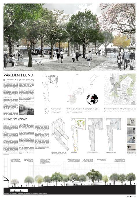 Världen i Lund: Gestaltningsförslag för Clemenstorget och Bangatan