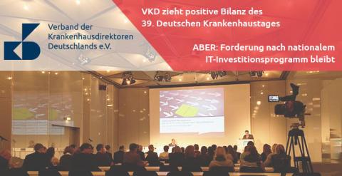 Pressemitteilung: VKD zieht positive Bilanz des 39. Deutschen Krankenhaustages