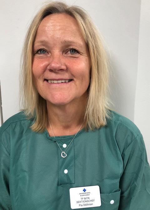 Pia Stöllman, bitr sektionschef barnsektionen inom AnOpiva, Akademiska sjukhuset