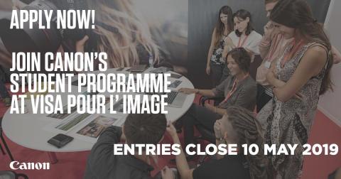 Canon opfordrer spirende fotografer til at dyrke og udvikle deres talent på Visa Pour L'Image