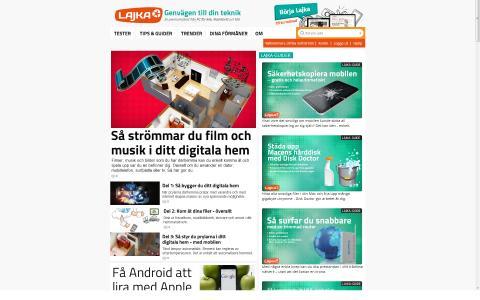 Lajka.se - sajtbild