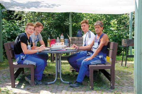 Startschuss für Umbau im Kinderhospiz: RWE Companius und Bildungszentrum Engergie Halle machen den Anfang