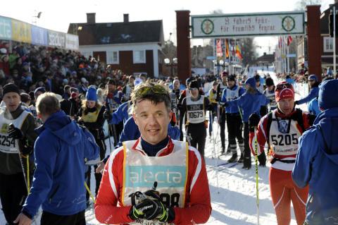 H.K.H. Kronprins Frederik av Danmark åker Vasaloppet för tredje året i följd