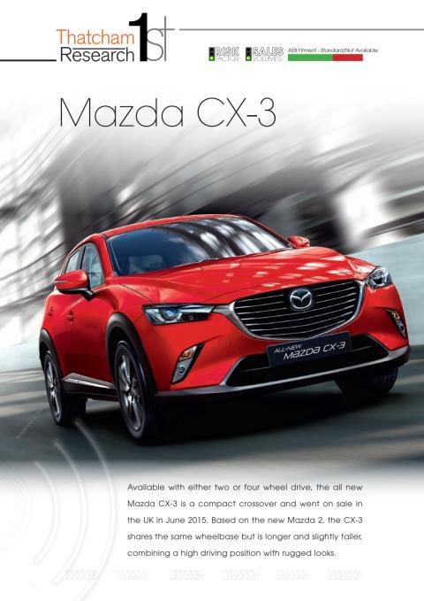 Thatcham 1st : Mazda CX-3