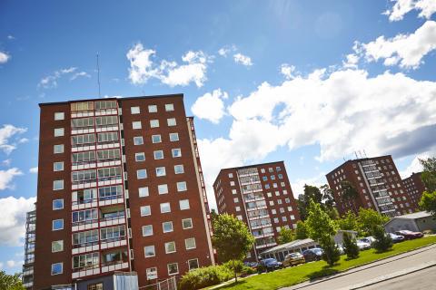 Några av Bostads AB Mimers fastigheter i Västerås