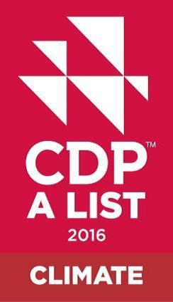 CDP climate list logo