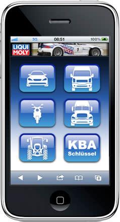 Nu finns Liqui Molys nätoljeguide även anpassad för smarttelefoner
