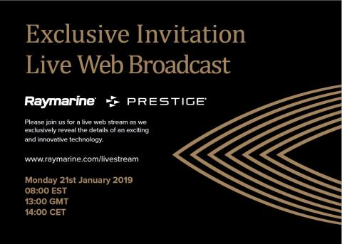 Join Raymarine and Prestige for the Live Announcement of an Innovative New Technology at boote Düsseldorf