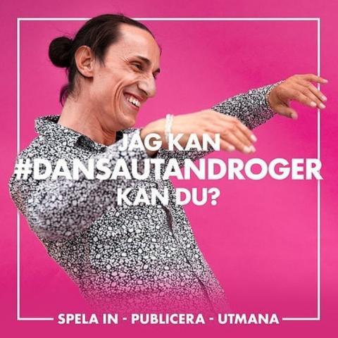 Inbjudan -välkommen till information om kampanjen Dansa Utan Droger #dansautandroger
