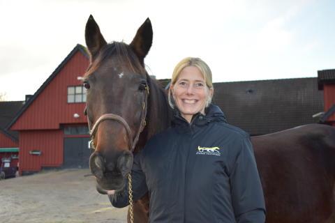 Maria Croon med häst