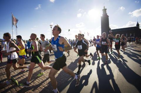 Drygt 16 000 löpare på Stockholms gator