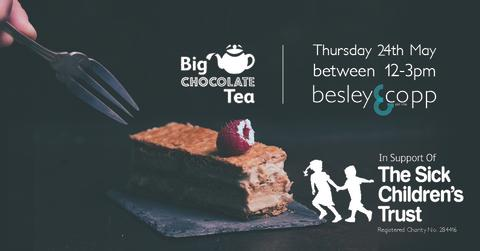 besley & copp join in the chocola-tea fun for The Sick Children's Trust