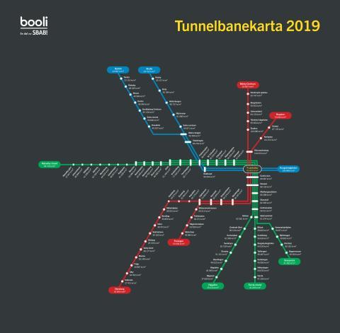 Tunnelbanekartan 2019