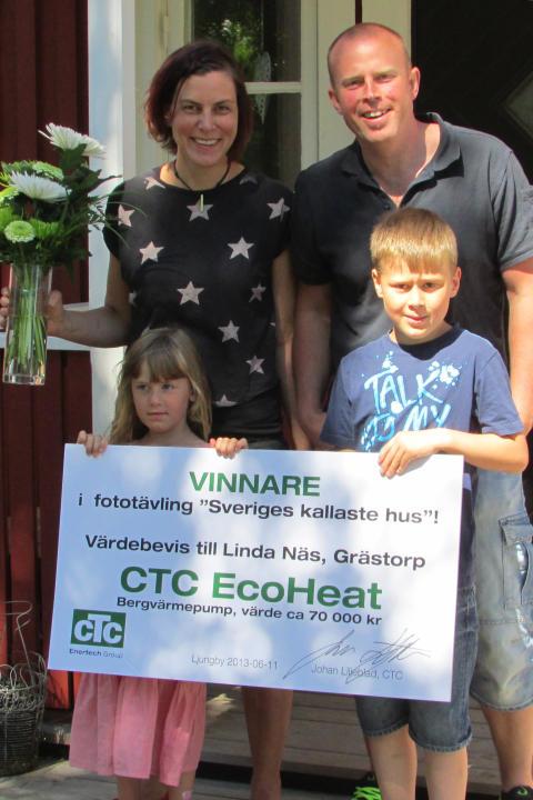 Linda vann CTC-värmepump med foto och fyndig formulering!