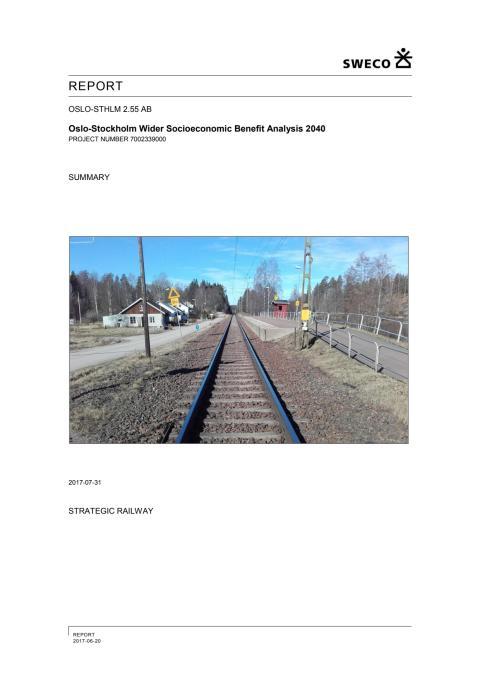 Wider Benefits for Oslo-Sthlm 2.55 summery (English)