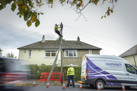 Openreach rallies telecoms providers to upgrade customers  onto faster, more reliable broadband connections