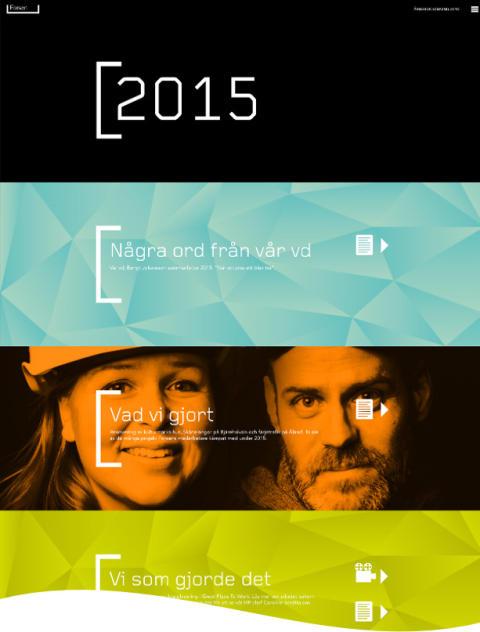 Skärmdump av Forsens digitala årsredovisning, 2015. (Bilden visar endast halva).