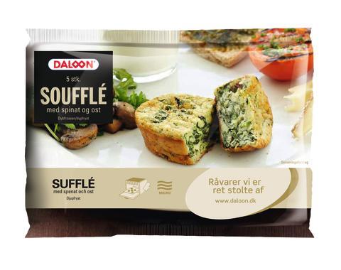 Soufflé med spinat og ost