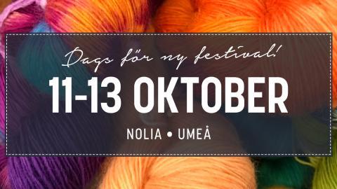 Sy- & Hantverksfestival Umeå 11-13 oktober oktober 2019