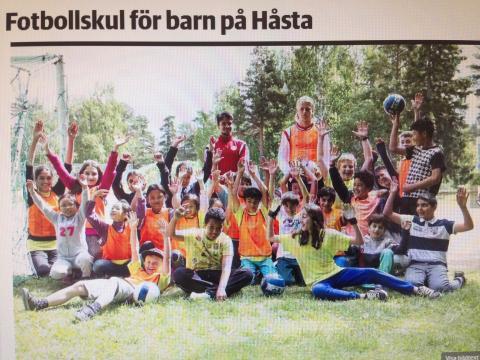Fotbollskul på Håsta - ett samarbete mellan HuFF & Hudiksvallsbostäder