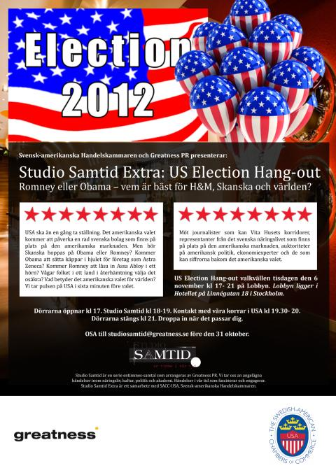 Inbjudan – Studio Samtid Extra: US Election Hang-out