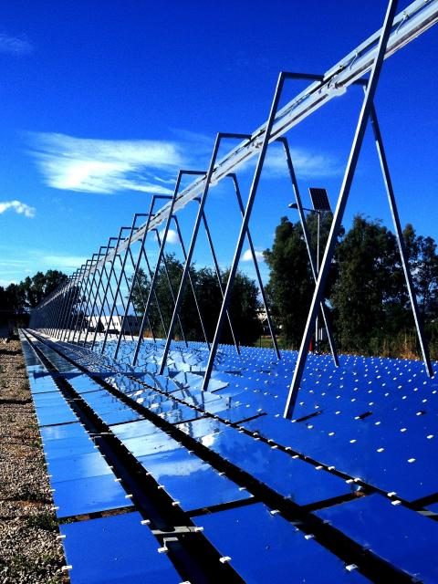 Fresnel mirror solar collector  by Elianto Solar Concentrating Power (Italy)