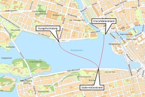 Premiär för SL:s nya båtlinje över Riddarfjärden