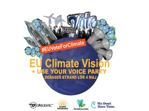 EU Climate Vision + USE YOUR VOICE 4 maj