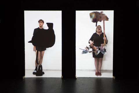 Rebecca Digby, Nature Clip Object Concert, stillbild videoinstallation, 2018–2019