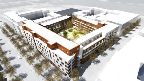 Välkommen till första spadtaget av 125 bostäder i kv Saga i Hyllie, Malmö