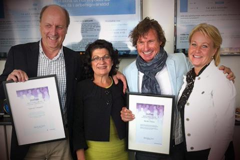 Nordic Choice Hotels fikk utmerkelse av Arbetsförmedlingen