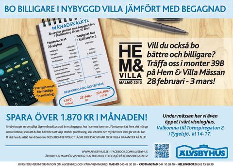 Älvsbyhus på Hem-och Villamässan i Malmö!