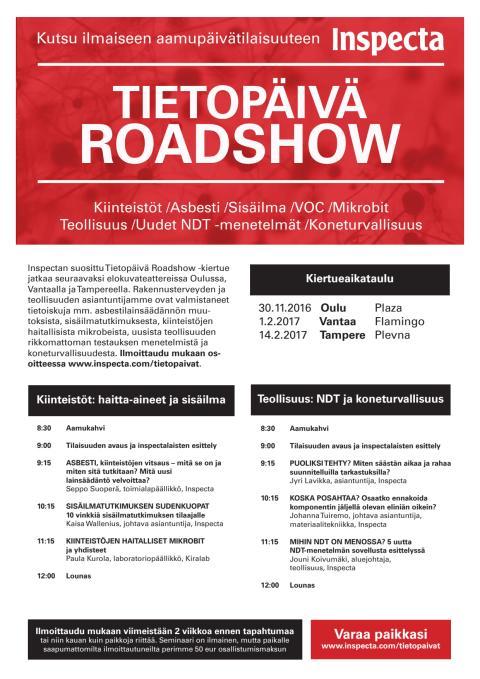 Tietopäivä Roadshow Oulu kutsu