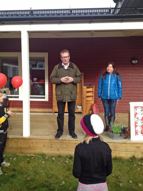 Torsten Medalen invigningstalar Ljungdalens förskola