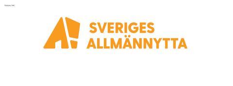 Sveriges Allmännytta logotyp färg liggande
