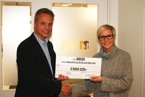 Statoils biltvättskampanj ger 1,6 miljoner till Bris
