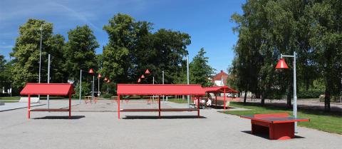 Marknadsstånd, Badhusparken Vara