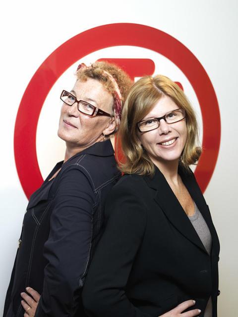 Britta Sjöström och Karin Andréen Olsson på Long Tall Sally