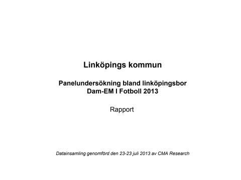 Linköpingsborna uppskattar UEFA Dam-EM