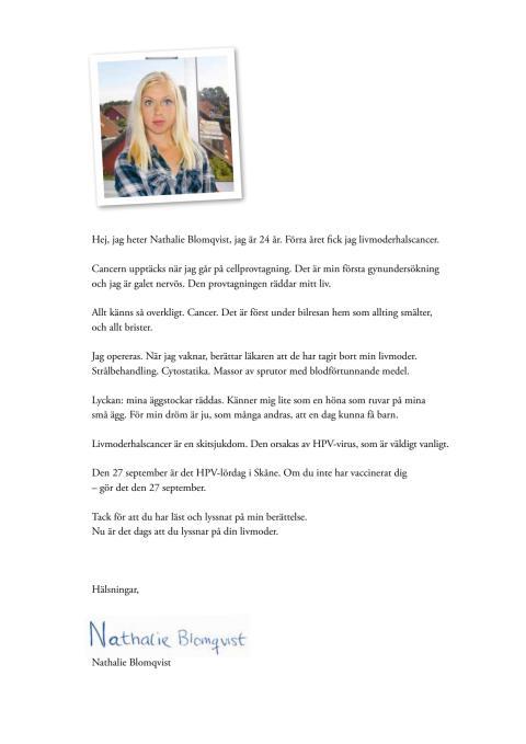 Nathalies brev