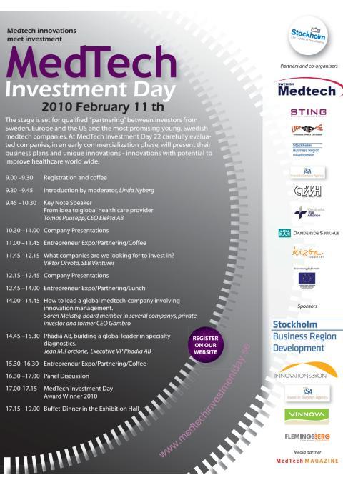Program Medtech Investment Day, 11 febr 2010