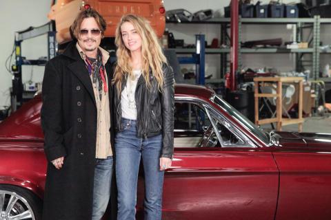 Overhaulin' med Johnny Depp och Amber Heard.