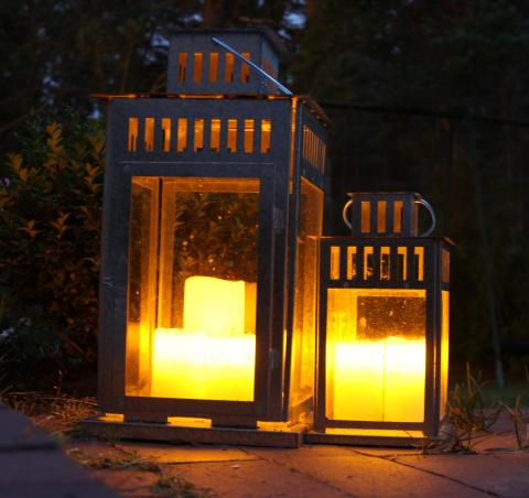 Ljus med skymningssensor i lyktor
