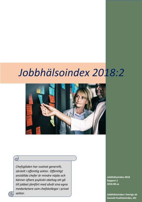 Jobbhälsoindex 2018:2