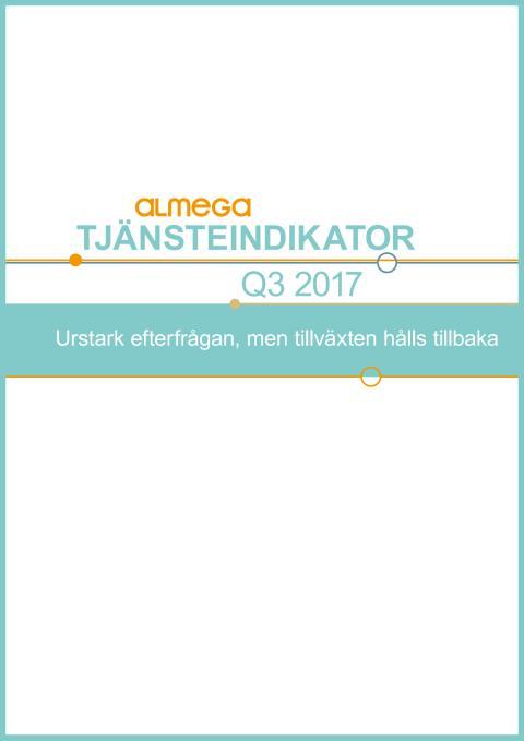 Tjänsteindikatorn, 2017, kvartal 3 - kort version