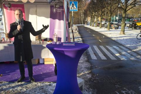 Stockholms modernaste cykelbana invigd