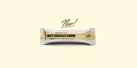 Barebells White Chocolate Almond protein bar är här!