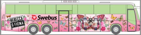 Rebecca & Fiona får egen festivalbuss av Swebus
