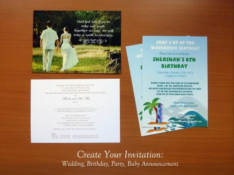 Unique Invitations: Wedding, Birthday, Party, Baby Announcement