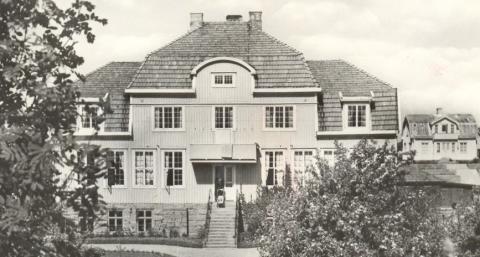 "Kaprifolskolan, ""storskoorn"", runt 1950. Foto: Hunnebostrands Bildarkiv"
